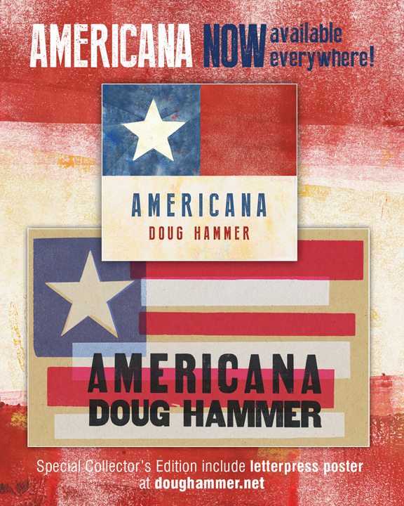 AMERICANA available now! Promotional poster